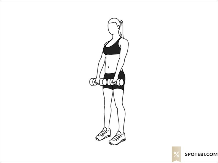 Romanian deadlift exercise guide with instructions, demonstration, calories burned and muscles worked. Learn proper form, discover all health benefits and choose a workout. http://www.spotebi.com/exercise-guide/romanian-deadlift/
