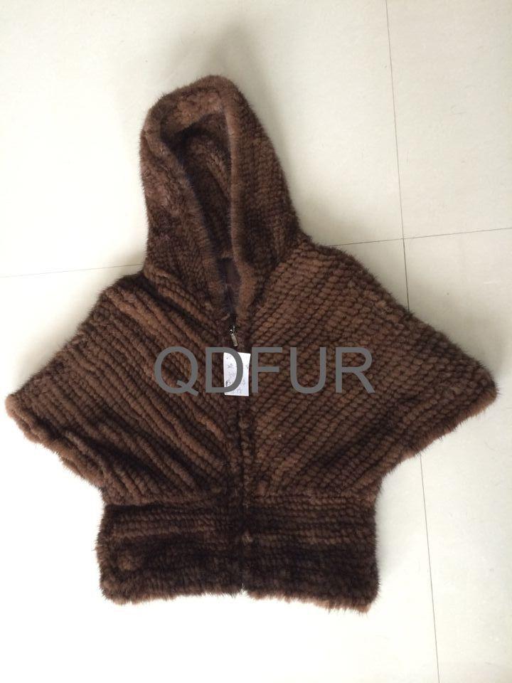 2014 леди подлинных природных трикотажные норковая шуба зимняя куртка женская верхняя одежда Batwing кардиган пиджак QD70620