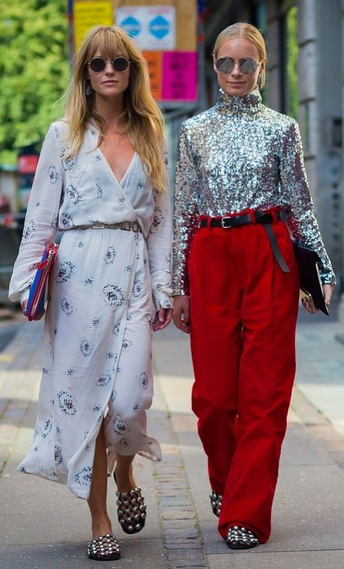 Both in Alexander Wang shoes. Photographed by Style Du Monde at Copenhagen…