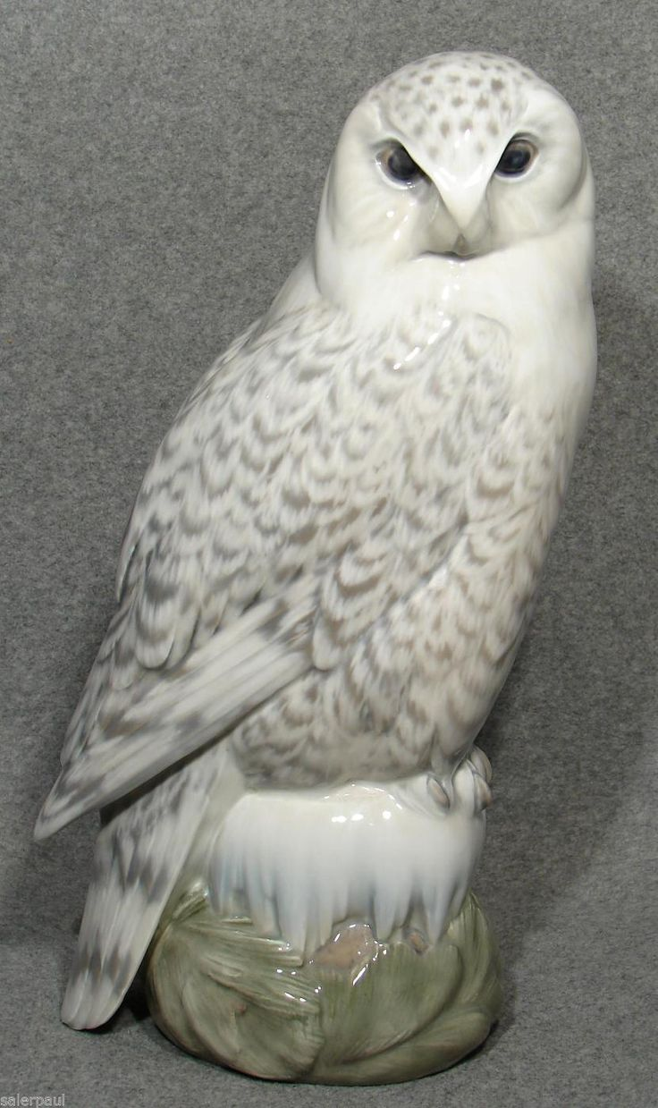 Royal Copenhagen Figurine Snowy Owl 1829 Large 15 75 Quot Peter Herold Designed 1917 Royal