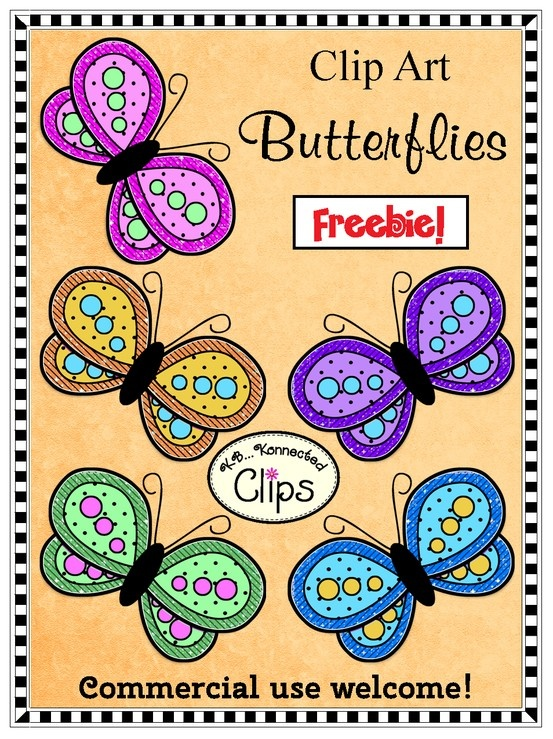 Freebie! Clip Art Butterflies! Remember to follow me so that your updated when I add new products and freebies. http://www.teacherspayteachers.com/Product/Clip-Art-Freebie-Butterflies-735136