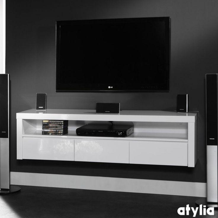 les 25 meilleures id es de la cat gorie tv suspendu sur pinterest meuble tv suspendu tag res. Black Bedroom Furniture Sets. Home Design Ideas