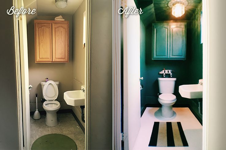 """From Blah to Bam!HOW MY SMALL, BEIGE LINOLEUM BATHROOM BECAME A GEM.  So, I have this little bathroom in my garage. It's sort of a utility  bathroom. I call it the """"Pool Bathroom"""" and encourage kids to use it  instead of peeing in my pool."""