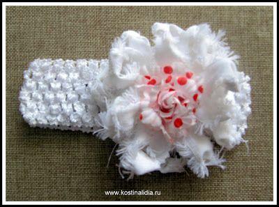 Мир рукоделия Лидии Костиной и не только...: Детские повязки на голову с цветами из фоамирана