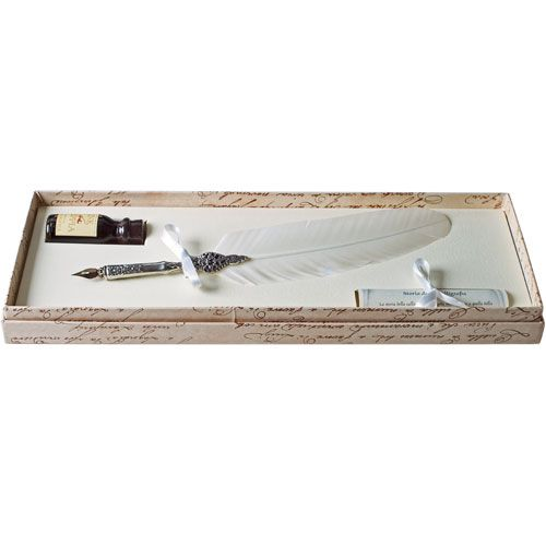 White feather quill set at British Museum shop online
