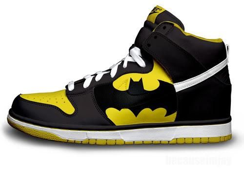 BATMAN NIKES...i'm not a huge batman fan, though i can't deny the awesomeness of these shoes.  i'd get them for a friend.