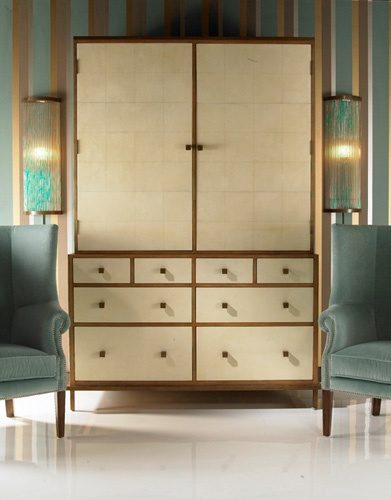Love The Paneled Vellum. Hmm, Might Make A Great Dry Bar Cabinet.