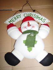 Рождество Плюшевая игрушка подвесная орнамент приветствия Снеговик