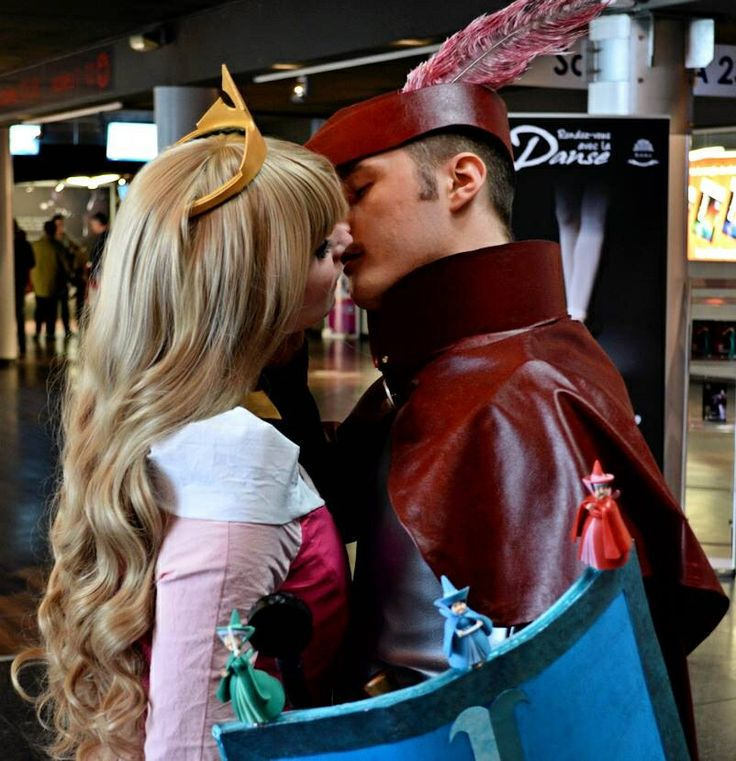 Prince Philippe and Princess Aurora Cosplay - Sleeping Beauty www.cosplayquest.com & www.facebook.com/mycosplayquest #SleepingBeautyCosplay #SleepingBeautyCostume