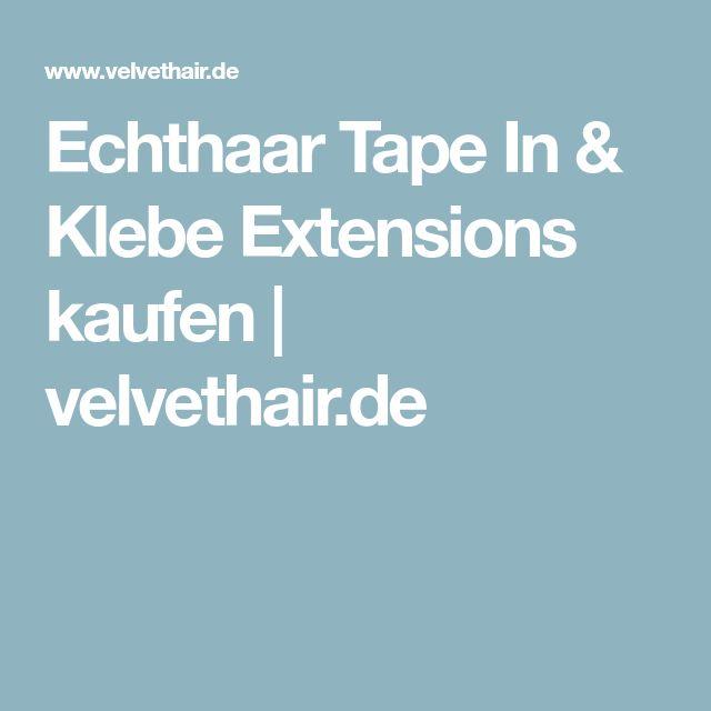 Echthaar Tape In & Klebe Extensions kaufen   velvethair.de