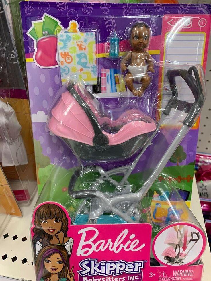 New Barbie Skipper Babysits Inc. Pink Stroller Car seat