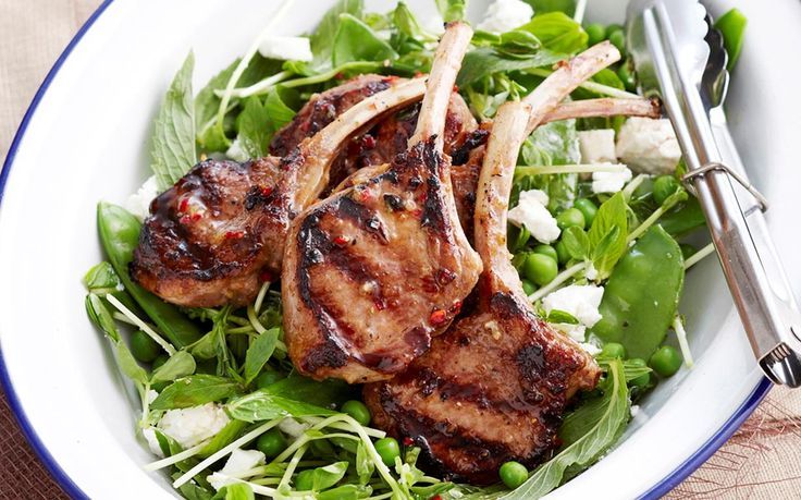 Herb-crusted lamb cutlets