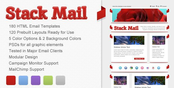 Stack Mail - Email Template - ThemeForest Item for Sale