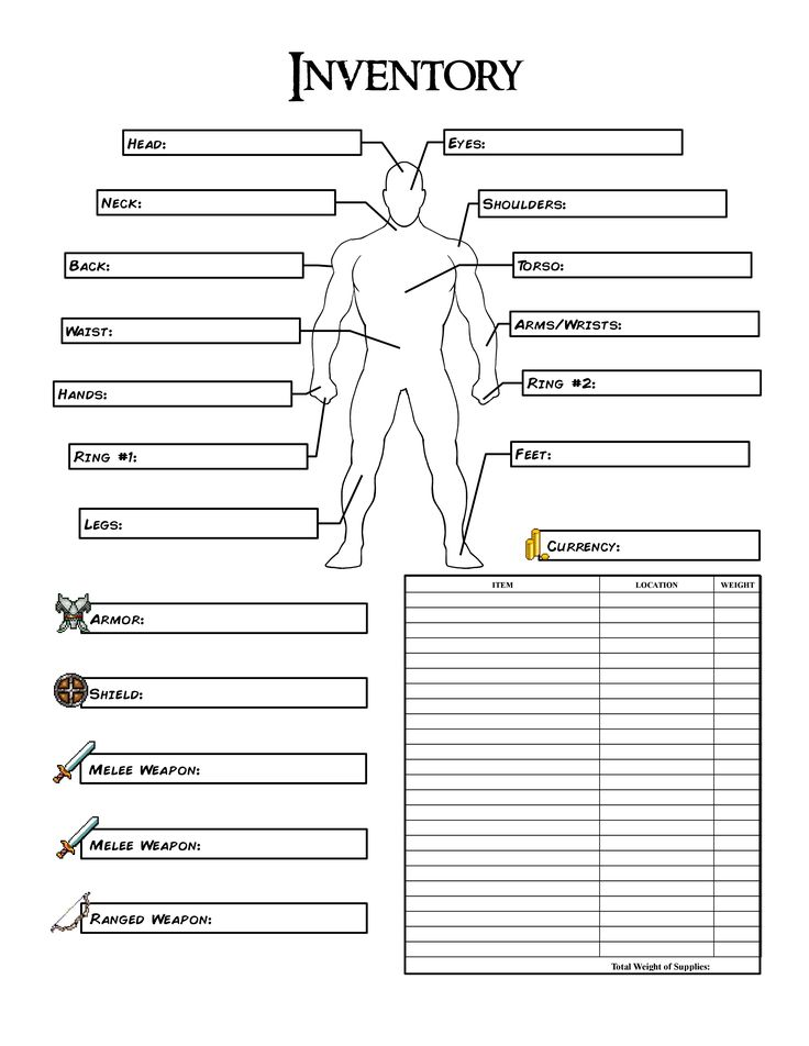 8 best images about rpg on Pinterest The old, Rpg and Geek culture - Inventory Log Sheet
