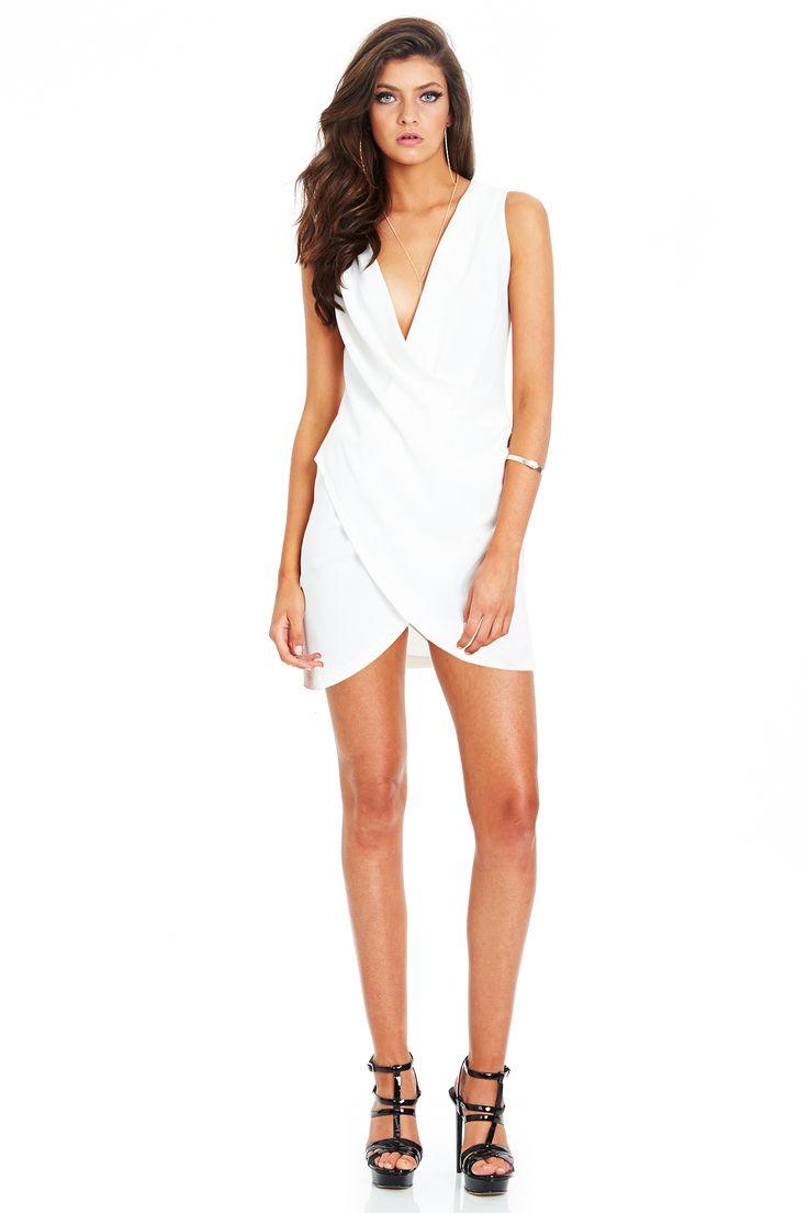 NEW MOON DRAPE DRESS - Ivory #nookie #shesgotthelook #lovenookie