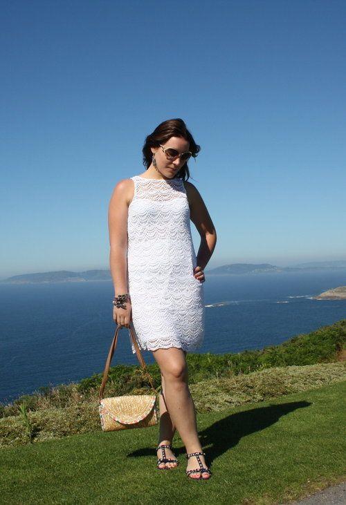 On the horizont  , Blanco en Vestidos, Zara (new collection) en Sandalias de gladiador, blanco accesories en Bolsos