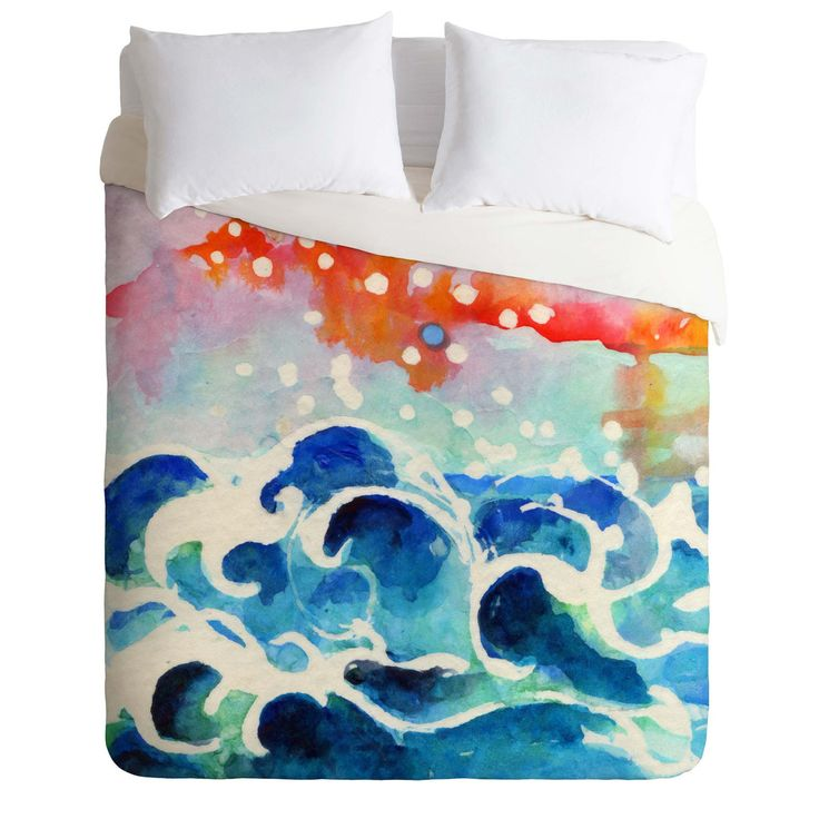 Ginette Fine Art Tides Of Time Duvet Cover | DENY Designs Home Accessories