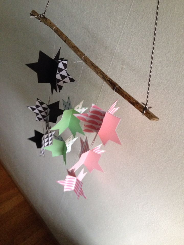 Paper star mobile/pappersmobil
