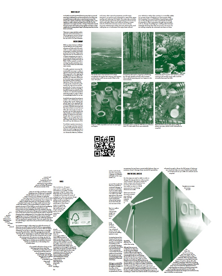 Final layout of my broadsheet for my UN date.