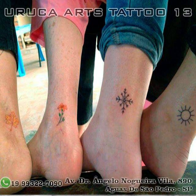 Amigas quatro estações do ano  Endereço: Av. Dr. Ângelo Nogueira Vila, 890 Águas de São Pedro - SP WhatsApp: (19) 99322-7090  #minimialista #tatuagemfeminina #tatuagempequena #tatuagemhomenagem #tatuagemamiga #piracicaba #saopedro #saopedrosp #brotas #brotassp #obrigado #aguasdesaopedro #urucaarts #vempraaguas #tattoo2me #tattooink #inksp