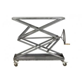 Industrial Console Table (Raw Metal) - CDI - Available at Warehouse 74