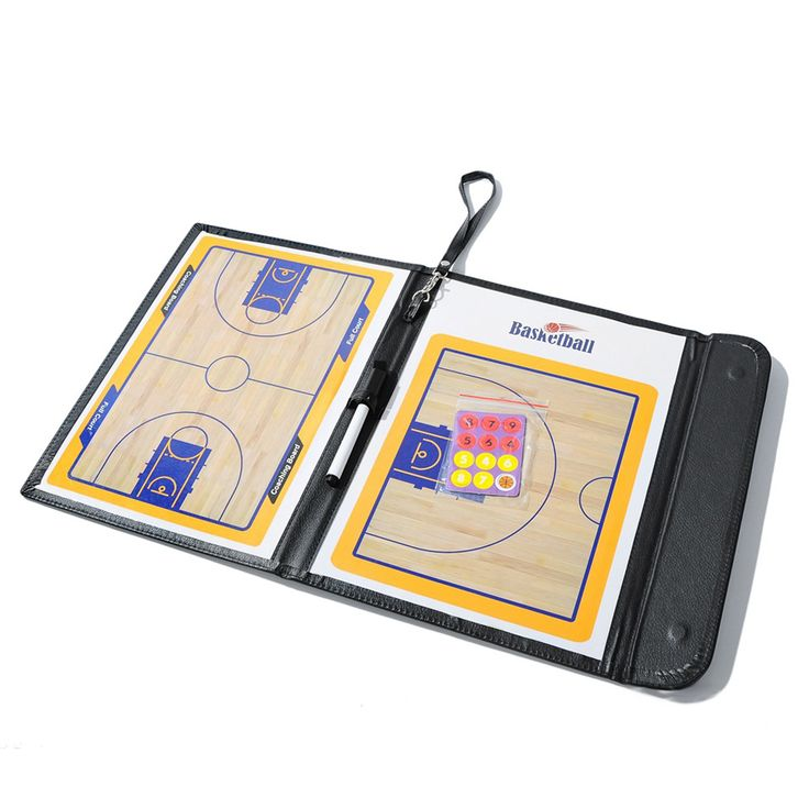 New Basketball Coaching Board Coaches Clipboard Dry Erase w/marker basketball Strategy Board Tactics Luxury Version ISP