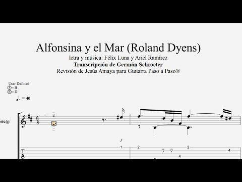 Alfonsina y el Mar - Roland Dyens Tablatura por Jesús Amaya... - YouTube