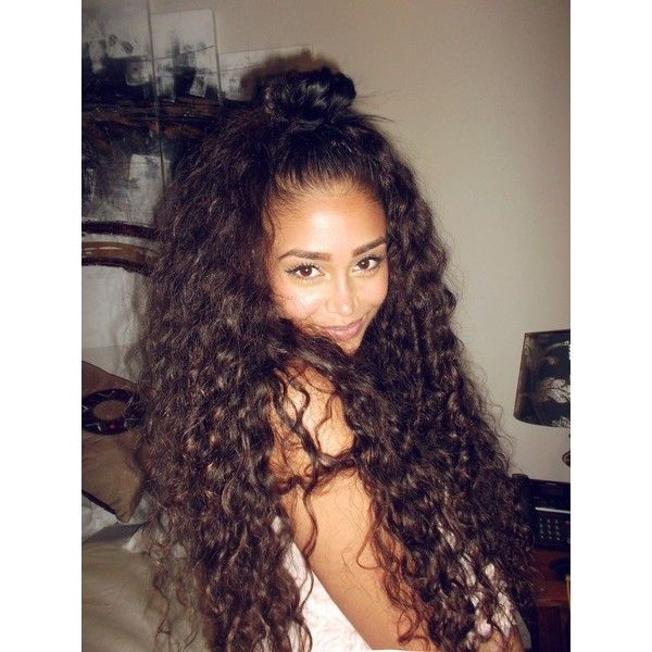 curly hair of girls ❤ liked on Polyvore featuring hair