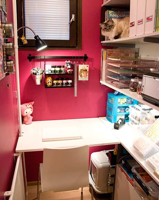 Unique Small Craft Rooms Ideas On Pinterest Scrapbook - Craft room home studio setup