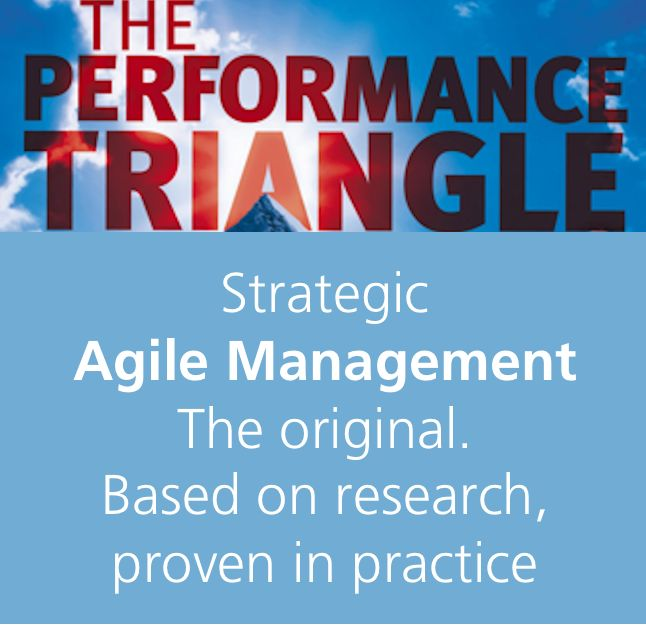 Strategic agility for the boardroom with THE PERFORMANCE TRIANGLE #PerfTriBook with the #AgileDesignCheck for #agilemanagement and #managementdesign to make the agile design shift and a huge step-change in performance and innovation. https://agilityinsights.net/en/publications/the-performance-triangle