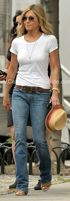 Jennifer Aniston Style and Fashion - Stuart Weitzman Alex Wedge Sandal in Swamp Crochet on Celebrity Style Guide