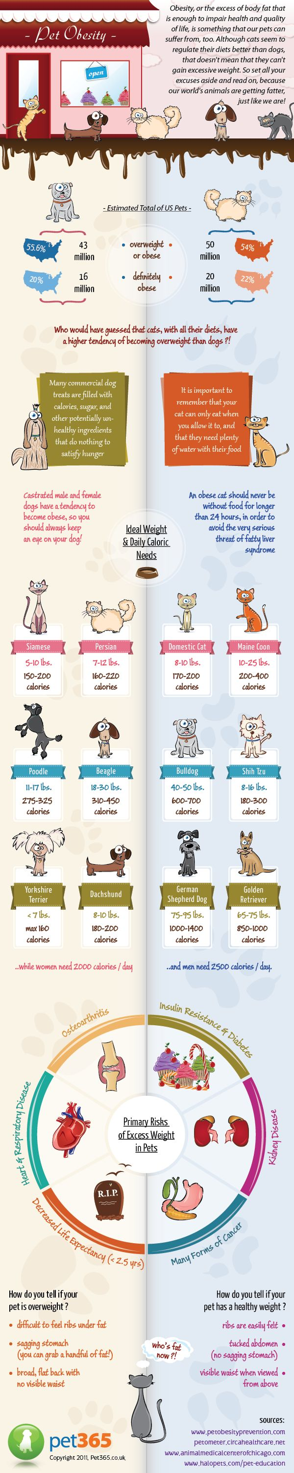 Great chart on dog/cat weight