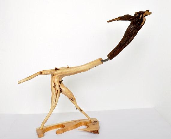 Sculpture Fear  juniper wood by Morgod on Etsy, $180.00
