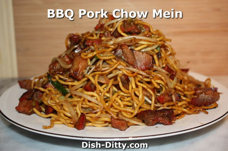 I just love BBQ Pork Chow Mein and it definitely is an american favorite at Chinese Restaurants around the nation.