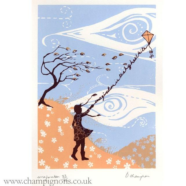 Laurens Kite. Original silkscreen print. £20.00