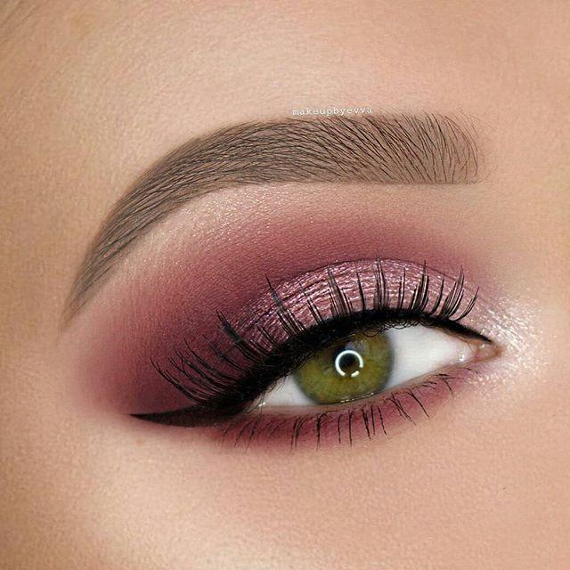 Картинки макияж глаз розовый способу