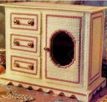 plastic canvas jewelry box pattern - Google Search