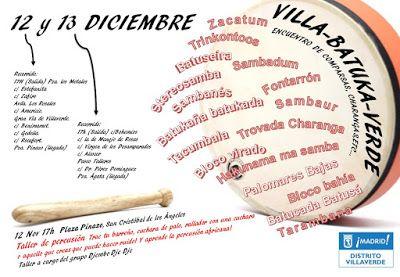 Gente de Villaverde: Encuentro de Batukadas Villa-Batuka-Verde'15