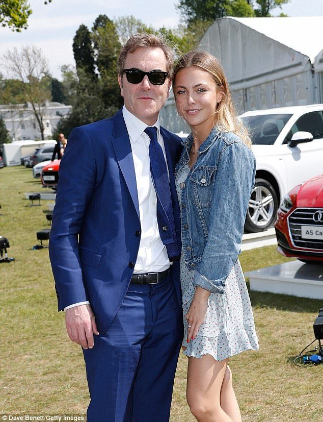 A family affair: Actor James Nesbitt was pictured with his eldest daughter Peggy, who wore...