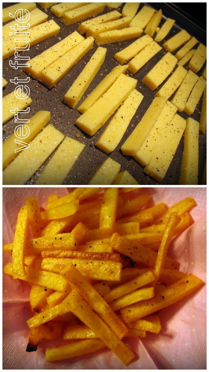 Frites de polenta #sansgluten #vegan http://vertetfruite.com/grignotines-superbowl/