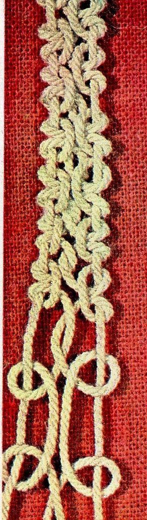 larks head knots braid