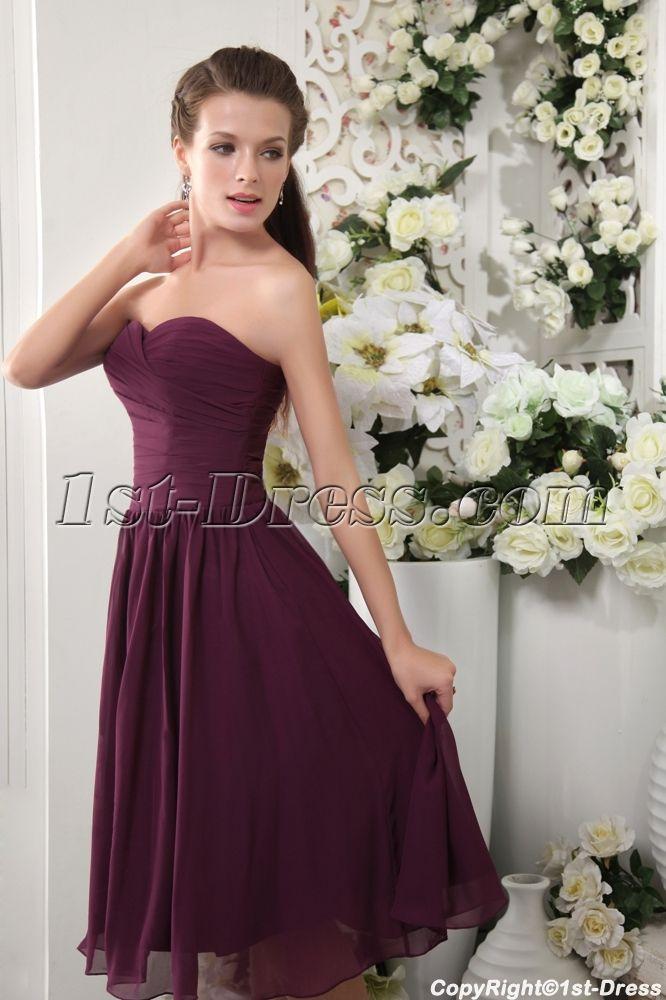 Discount Tea Length Deep Purple Bridesmaid Dresses IMG_0113:1st-dress.com