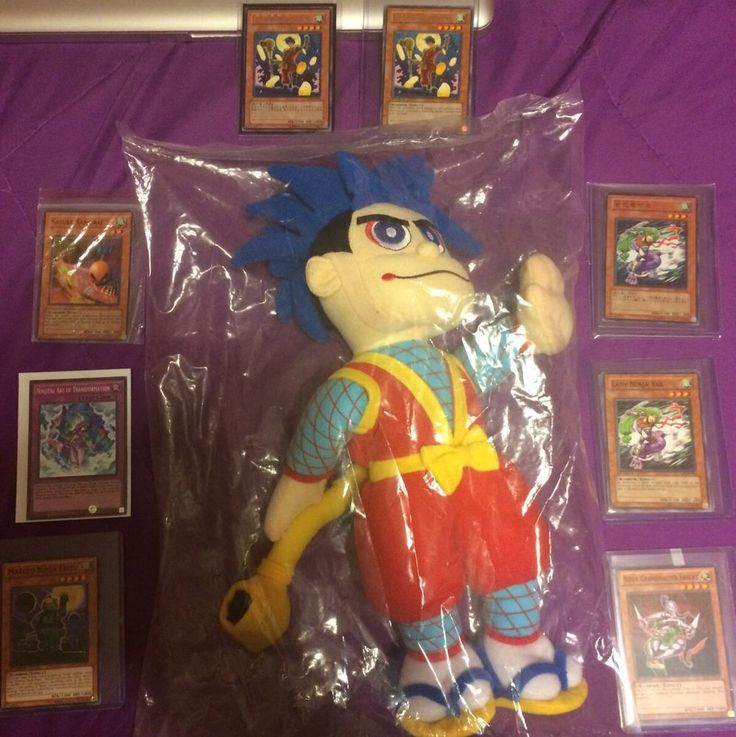 SUPER Rare 2000 E3 Japanese Wacky Goemon ps2 Plush konami + rare YUGIOH cards  | eBay