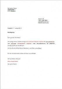 Kündigung Vorlage Arbeitsvertrag Schweiz
