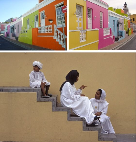 vibrant Bo-Kaap area in the heart of Cape Town and home to large Muslim & Cape Malay population