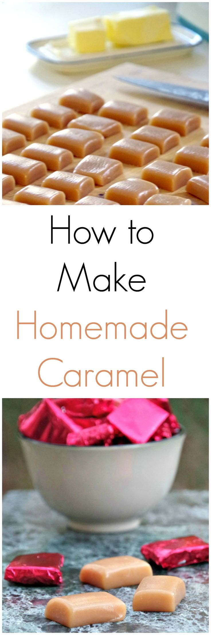 Learn how to make homemade caramel  Makes a great homemade gift idea or just an easy homemade candy recipe to enjoy with the kids!