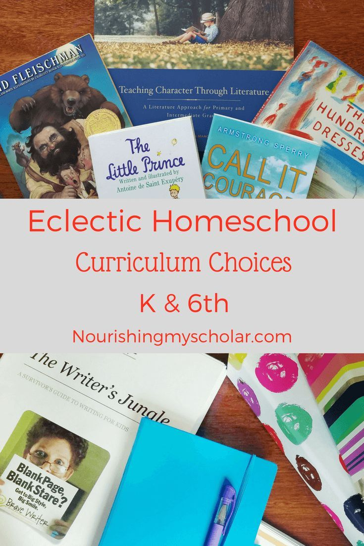 Eclectic Homeschool Curriculum Choices K And 6th Grade Education