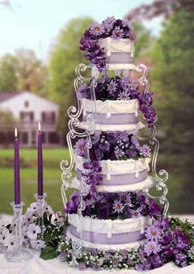 Lush purple wedding cake