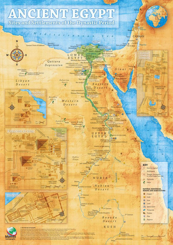 One of the best all around maps of Ancient Egypt lots of details. Merritt Cartographic: Ancient Egypt