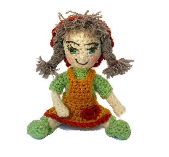 Amigurumi Doll Crochet Doll  Stuffed Toy Crochet by CRAZYBOOM